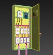 总电箱,断电器,漏电保护器max模型
