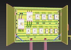 二级电箱,漏电保护器,断电保护器max模型