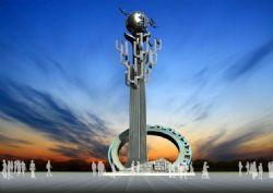 学校振翅高飞 雕塑设计max模型