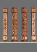 中式灯柱雕塑max模型