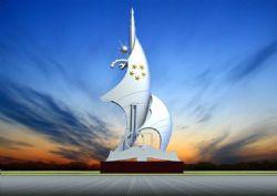 校园形象雕塑设计max模型