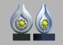 祖国的花朵雕塑设计max模型