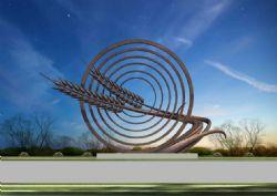 农村丰收雕塑设计max模型