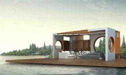 亲水平台,休息亭max模型