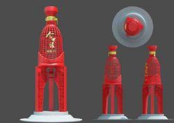 今世缘酒业红色网格雕塑设计