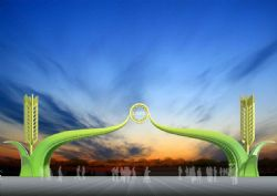 麦穗生态厂区大门设计