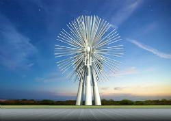 针刺状雕塑设计