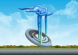 冲入云端雕塑设计