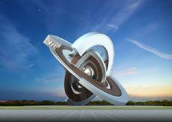 地球星系轮回雕塑设计