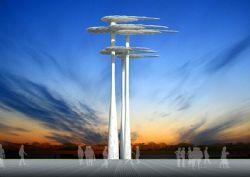 类树形高层雕塑设计