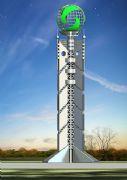 球星塔式雕塑设计