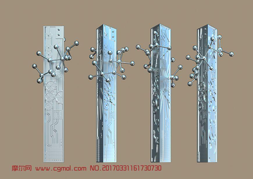 DNA雕塑设计max模型