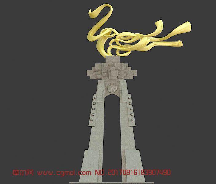 黄金龙飞气派雕塑