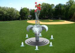 爱心花朵雕塑设计max模型