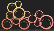 圆形中国梦雕塑设计