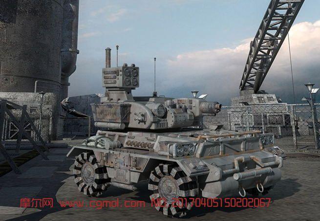 一个装甲车模型分享,贴图全