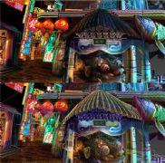 魔都夜市街道场景,游戏模型设计