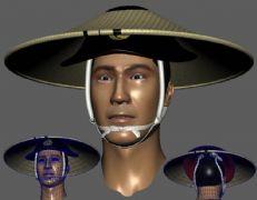 越南带斗笠的警察头部maya模型