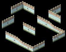 女娲庙墙体设计max模型