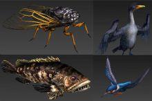 多种动物游戏简模带动画