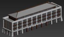 汉唐风办公楼行政中心设计