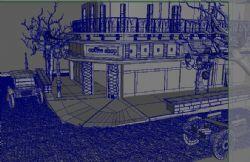 古典�L格的咖啡店,中式
