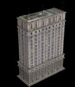 一个游戏中的大楼建模,max,obj,c4d格式