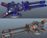 电磁炮maya模型