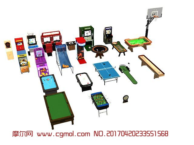 蹦床,游戏机等游乐设备集合