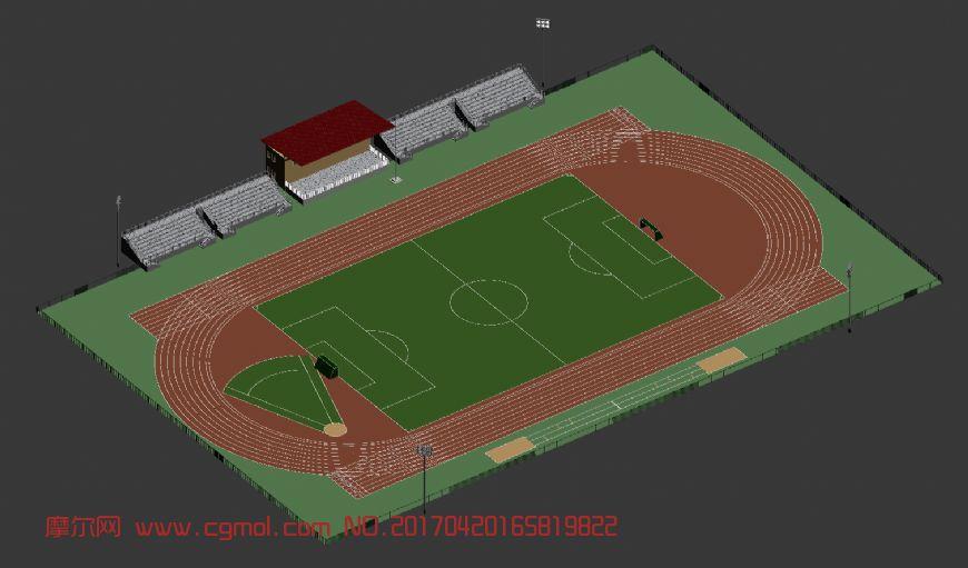 操场,看台+足球场