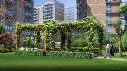 园林景观小品绿藤长廊