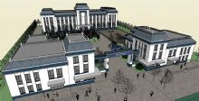 公安局办公楼模型