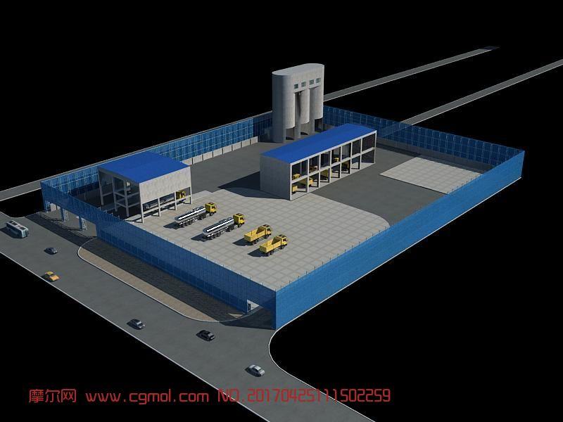 防风墙max模型