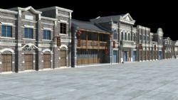 民国特色街道建筑
