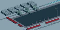 船只卸货码头max模型