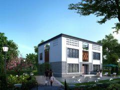 180平方双层丹江现代中式别墅max模型