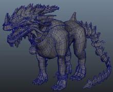 转载的一个霸气麒麟maya模型