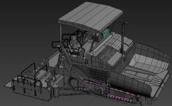 沥青混凝土摊铺机max模型