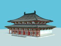唐代大殿max模型,木结构,fbx,max两种格式