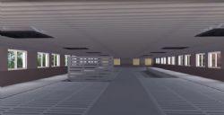 现代养殖场养猪场猪舍铺设装修动画