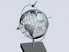 卫星环绕地球摆件
