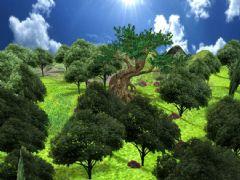 大樹高山+森林場景maya2012模型,貼圖全