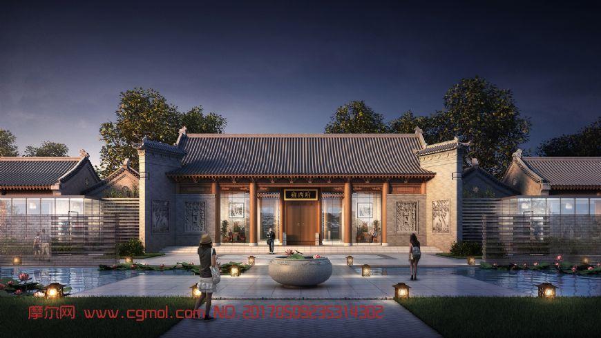雍西府,古建会所-带场景