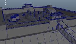 古代江州城池围墙maya模型