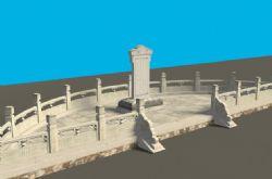 古代精美石碑带石台,max,fbx格式,有贴图