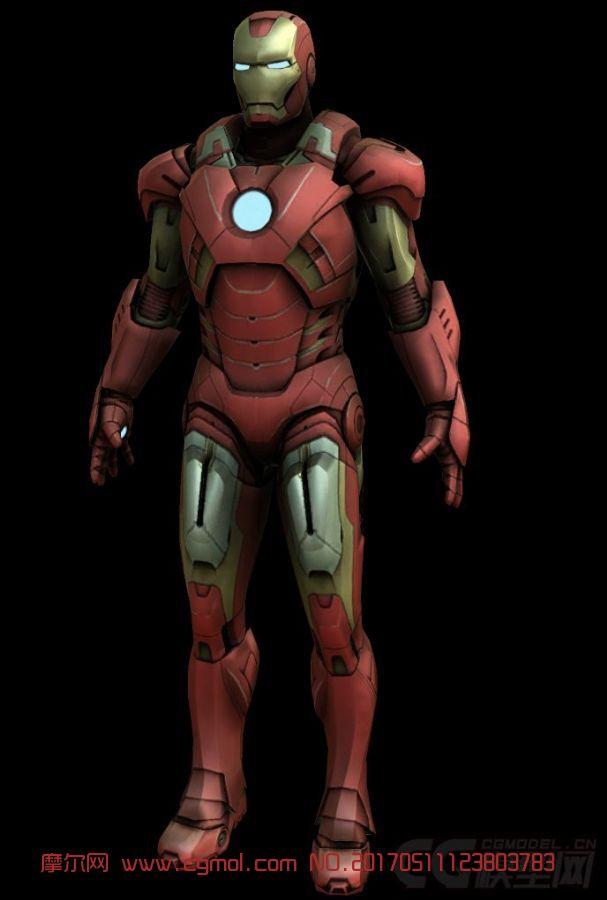 钢铁侠马克1-42_钢铁侠马克42低模,机械角色,机械模型,3d模型下载,3D模型网,maya ...