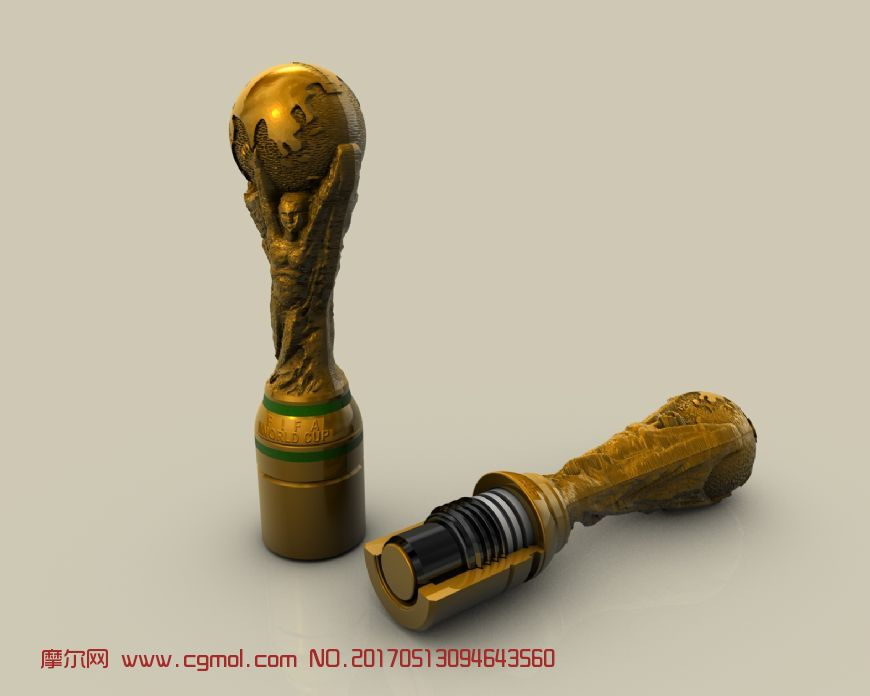 世界杯切面c4d模型