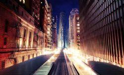 大城市街道绚丽夜景max2011模型(网盘下载)