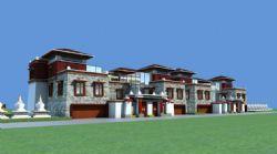 西藏风格建筑别墅
