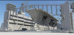 大型造船厂,航母建设工厂maya模型